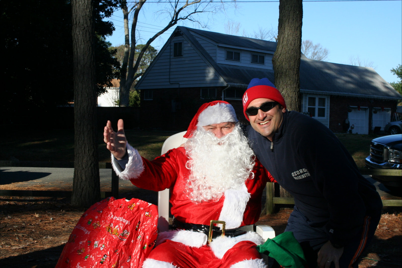 Image of Santa and a Friend