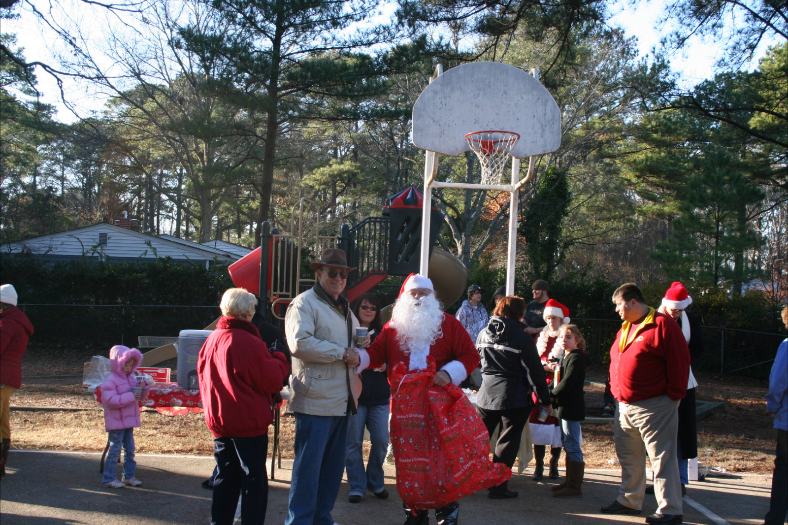 Image of Santa and Friends in the Park